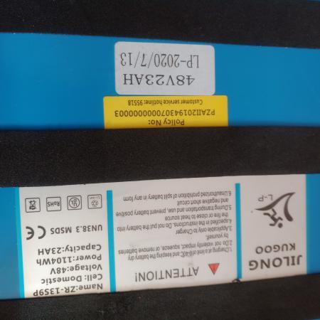 Bateria 23 Ah Hulajnoga