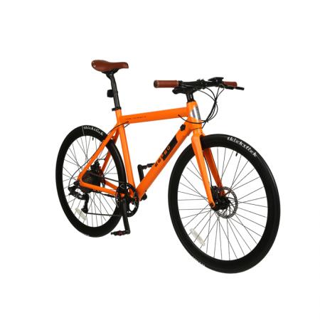 Rower elektryczny Workout pomarańczowy zielony szosowy