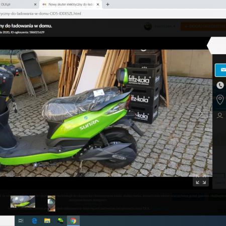 Nowy skuter elektryczny