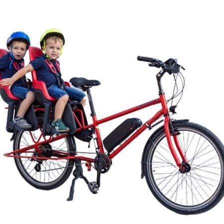 Rower cargo ELEKTRYCZNY 350W przyczepka do przewozu 2 dzieci NOWY